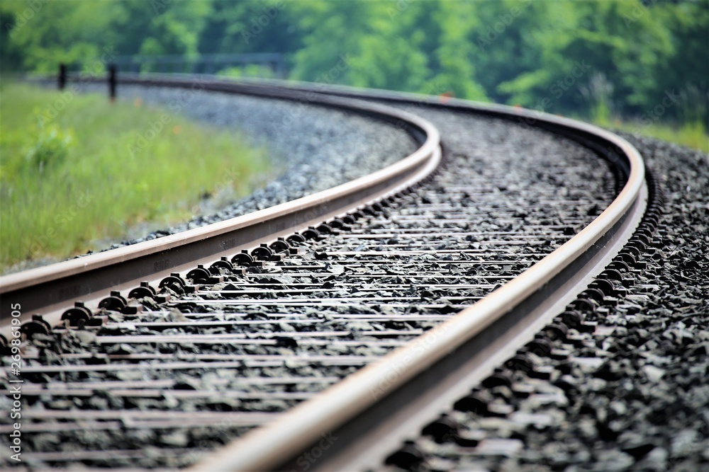 Fototapety, obrazy: railroad tracks