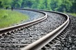 canvas print picture - railroad tracks