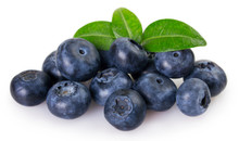 Fresh Blueberry On White Backg...