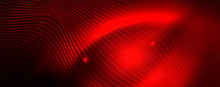 Shiny Neon Lines Techno Magic Futuristic Background, Magic Energy Space Light Concept, Abstract Background Wallpaper Design