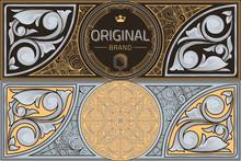 Vintage Ornate Decorative Design Card