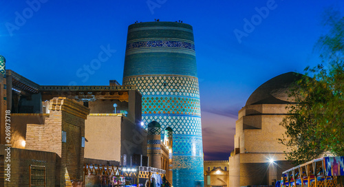 Foto  Historic architecture of Khiva, Uzbekistan