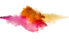 Collision Of Colored Powder Is...