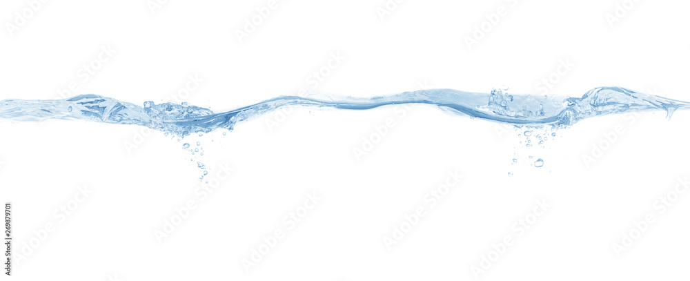 Fototapeta water splash isolated on white background,beautiful splashes a clean water