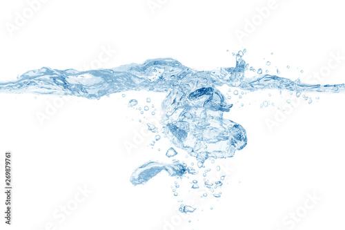 Fototapeta water splash isolated on white background,beautiful splashes a clean water obraz na płótnie