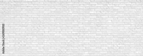 Poster Graffiti White brick wall modern Background.