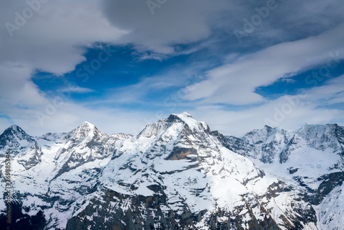 Schilthorn mountain in summer, Switzerland Canvas Print