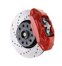 Car Brake Disc And Red Caliper...