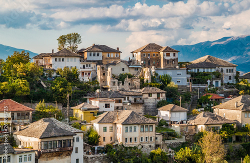Historical UNESCO protected town of Gjirocaster , Southern Albania Wallpaper Mural