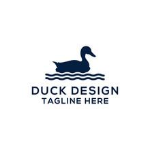 Collection Of Vector Animal Logos. Duck Design. - Vector