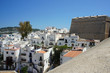 The old town of Ibiza grew up under the protection of the powerful walls of the Dalt Vila fortress.Ibiza Island.Spain.
