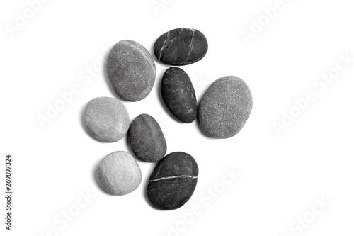 Fotomural Scattered sea pebbles