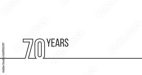 Fototapeta  70 years anniversary or birthday