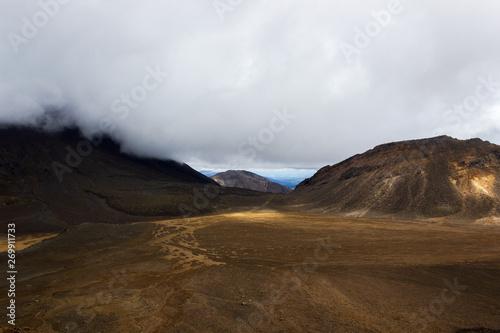 Photo  Mount Ngauruhoe in the Tongariro National Park, New Zealand