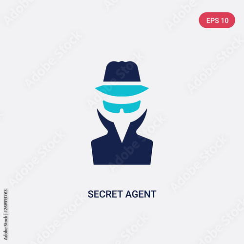 Photo  two color secret agent vector icon from army and war concept