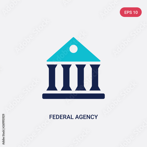 two color federal agency vector icon from army and war concept. isolated blue federal agency vector sign symbol can be use for web, mobile and logo. eps 10 Wall mural