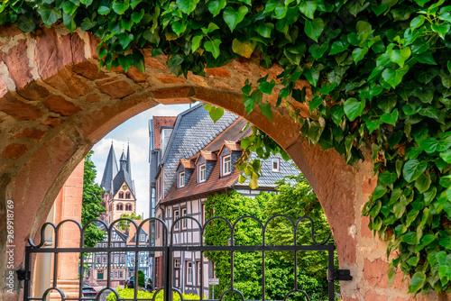 Gelnhausen mit Marienkirche, Hessen Canvas Print