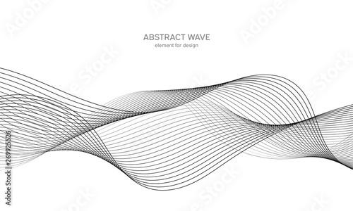 Fotografía  Abstract wave element for design