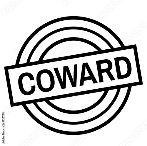 Photo COWARD stamp on white isolated