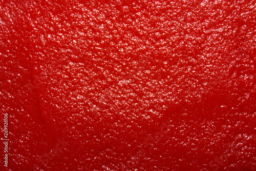 Fotomural The texture of tomato paste.Ketchup background.Tomato sauce.