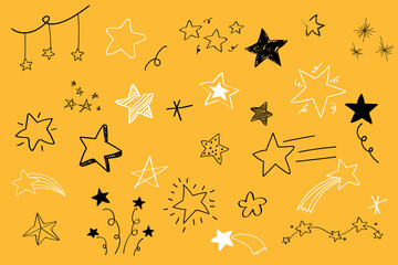 Hand drawn stars collection