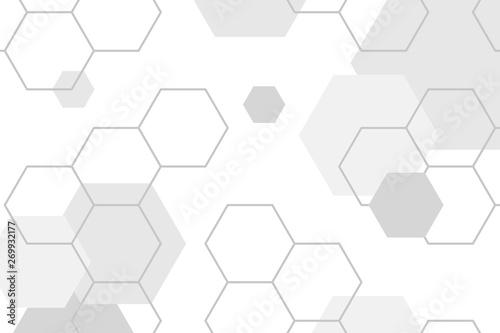 Obraz Gray hexagon pattern - fototapety do salonu