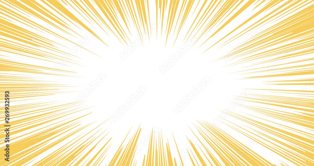 Fototapety, obrazy: Horizontal Warm color Background exploding with flashing light