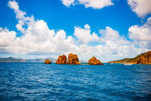 The Indians Rock Formation In The British Virgin Islands