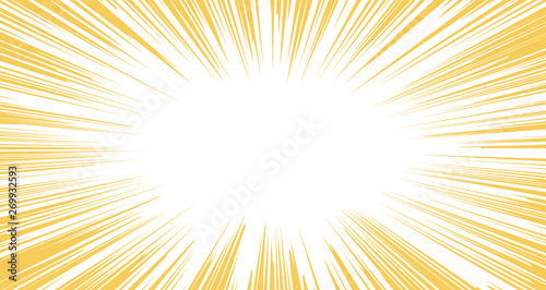 Fotografía  Horizontal Warm color Background exploding with flashing light