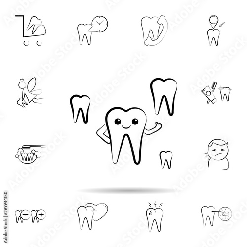 Smile tooth s icon. Universal set of dentist for website design and development, app development #269934150