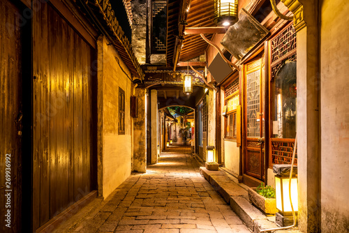 Wall Murals Ship Residence in Zhouzhuang Ancient Town, Suzhou..