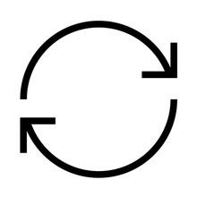 Thin Line Sharp Vector Icon / ...