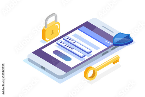 Fotomural Data Access, Password isometric concept