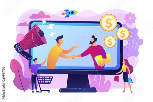Photo Profitable partnership, business partners cowork