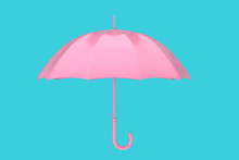 Pink Modern Umbrella. 3d Rendering
