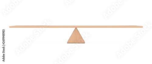 Balance Concept. Wooden Board Plank Balancing Canvas Print