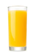 Glass Of Orange Juice Isolated On White Background
