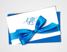 Decorative White Gift Card Des...