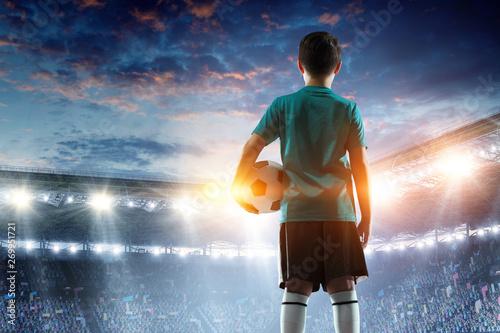 Fotografía  Little soccer champion. Mixed media