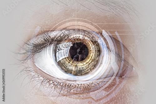 Poster Iris Abstract high tech eye concept