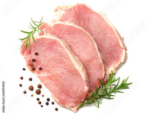 Carta da parati Raw pork meat isolated on white background
