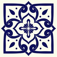 Delft Dutch Tile Pattern Vecto...