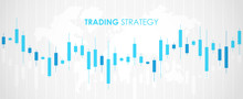 Candlestick. Trading Graphic. Stock Market Graph. Financial Chart. Investment In Forex Indicators. Abstract Background. Flat Style Vector Illustration.