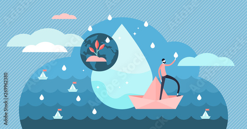 Fotomural Clean water vector illustration