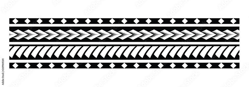 Fototapeta Tattoo tribal maori pattern, polynesian ornamental  design seamless vector