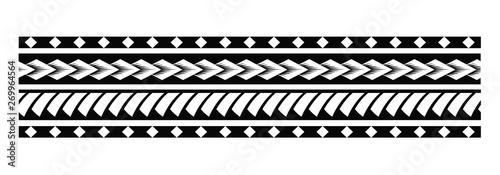 Tattoo tribal maori pattern, polynesian ornamental  design seamless vector