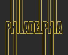 Philadelphia City Name In Geometry Style Design. Creative Vintage Typography Poster Concept.