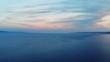 Beautiful sunset on the coast of Halkidiki,Greece. Aerial,