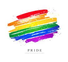 LGBT Flag. Vector Illustration On White Background.
