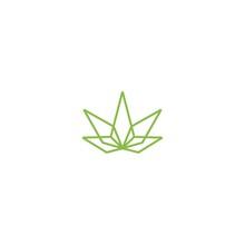 Cannabis Lineart Logo Vector